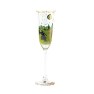 Бокал для шампанского «Маковое поле» Клод Моне - Фото