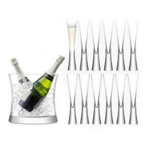 Набор бокалов для шампанского «Moya», 13 элементов - Фото