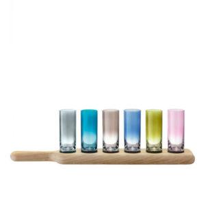 Набор рюмок для шотов, ликера и водки «Paddle»/цветные - Фото