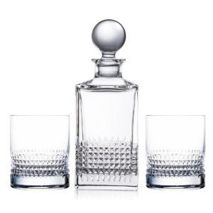 Алкогольный набор «Diamond» (графин + 2 стакана) - Фото