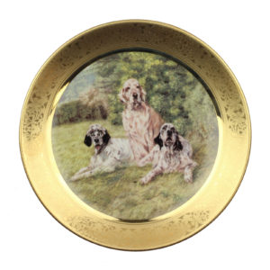 Декоративная тарелка «Dogs in the Field» 1 шт - Фото