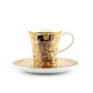 Чашка с блюдцем «Ожидание» Густав Климт - Фото