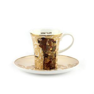 Чашка с блюдцем «Свершение» Густав Климт - Фото