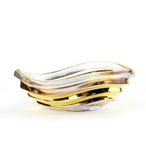 Блюдо хрустальное, Gold - Фото
