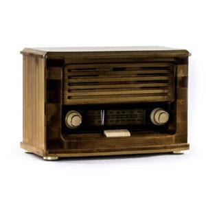Ретро радио «Малыш»  FM-радио, бамбуковый корпус - Фото