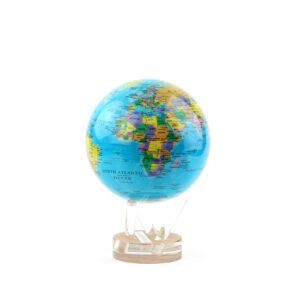 Гиро-глобус «Политическая карта» Ø11,4 см голубой - Фото
