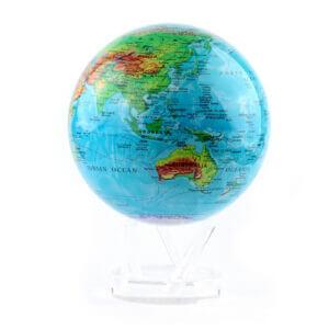 Гиро-глобус «Физическая карта» Ø21,6 см - Фото