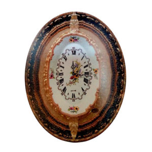 Часы настенные на фарфоре «Орнамент» - Фото