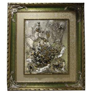 Цветочная картина в деревянной раме «Flower and frut» - Фото