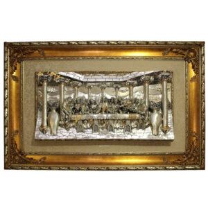Картина в деревянной раме «Тайная вечеря» - Фото
