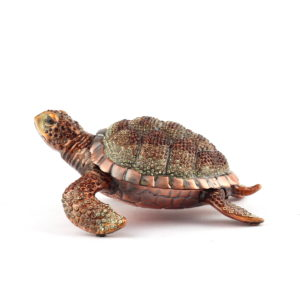Шкатулка «Черепаха», инкрустированная камнями Swarovski - Фото