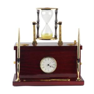Сейф кабинетный (песочные часы, ручки, часы) - Фото