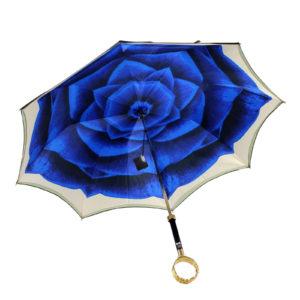 Зонт женский двойной «Blue Camelia» - Фото
