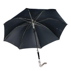 Зонт мужской двойной «Змея», Silver - Фото