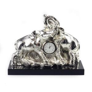 Часы «Пара слонов» - Фото