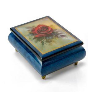 Музыкальная шкатулка «Красная роза» - Фото