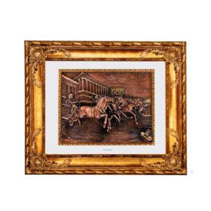 Картина в деревянной раме «Колесница в движении» - Фото