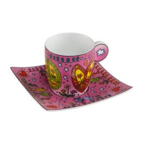 Чашка с блюдцем «Мир любви» Джеймс Рицци - Фото
