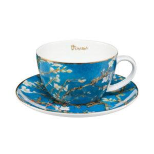Чашка с блюдцем «Миндальное дерево» Винсент ван Гог 250 мл - Фото