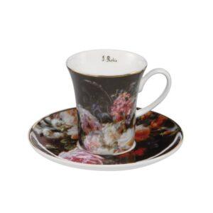 Чашка с блюдцем «Натюрморт с розами» Жан-Батист Роби - Фото