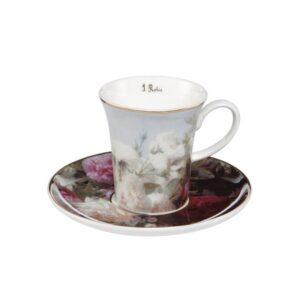 Чашка с блюдцем «Натюрморт с цветами» Жан Батист Роби - Фото