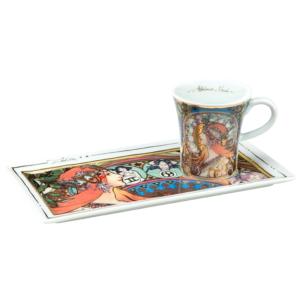 Чашка с блюдцем «Зодиак» Альфонс Муха - Фото
