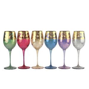 Бокалы для вина «Premium» 6шт. Veneziano COLOR - Фото