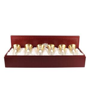 Набор бокалов для шампанского «Роскошь золота» - Фото