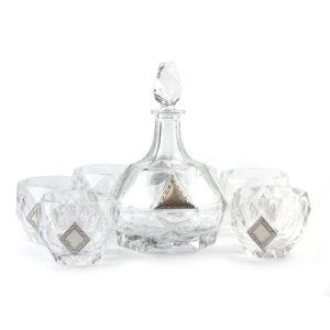 Набор для воды и виски, графин и 6 стаканов - Фото