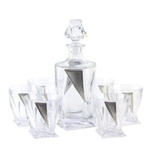 Набор для виски «CARDIFF», графин и 6 стаканов - Фото