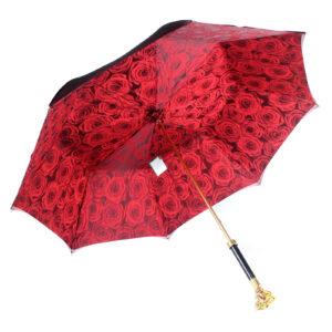 Зонт женский красный «Роза», Gold - Фото