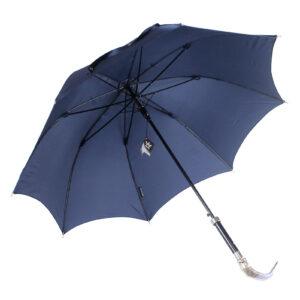 Зонт мужской двойной «Рыба», Silver - Фото