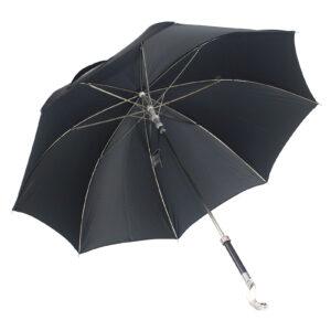 Зонт мужской черный «Кобра», Silver - Фото