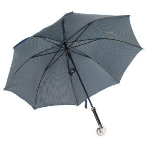 Зонт двойной «Череп», Silver - Фото