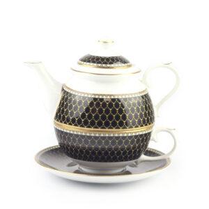 Набор чайный «Antler Trellis Black» - Фото