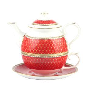 Набор чайный «Antler Trellis Red» - Фото