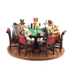 Статуэтка «Собаки играют в покер» - Фото