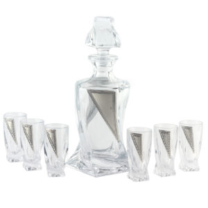 Набор ликеро-водочный «CARDIFF» (графин и 6 рюмок) - Фото