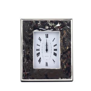 Часы настенные «Сидней» дерево, серебро - Фото
