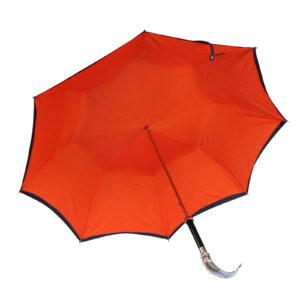 Зонт двойной «Рыба»/Silver - Фото