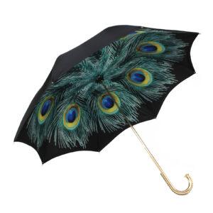 Зонт черный «Птица счастья»/Gold - Фото
