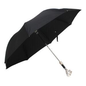 Зонт чёрный «Лев»/складной в чехле - Фото