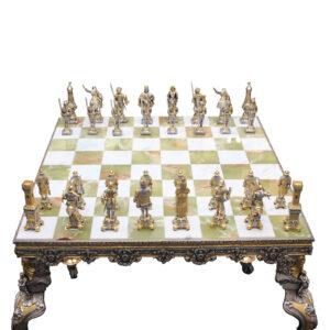 Шахматный стол с табуретами «Средневековье» - Фото