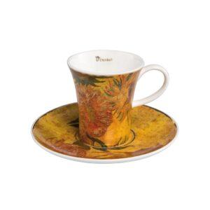 Чашка с блюдцем «Подсолнухи» Винсент ван Гог - Фото