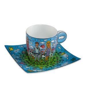 Чашка с блюдцем для кофе «Друзья» Джеймс Рицци - Фото