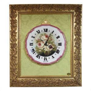 Часы настенные «FLOWERS » фарфор в деревянной рамке 60×54 см - Фото
