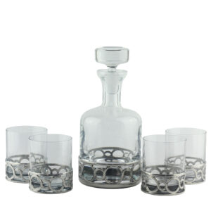 Набор для виски «Medallion» (графин + 4 стакана) - Фото
