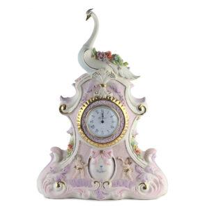 Статуэтка-часы «Лебединые цветки» - Фото