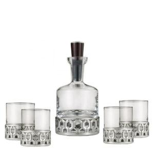Набор для виски «Hexagon» (графин + 4 стакана) - Фото