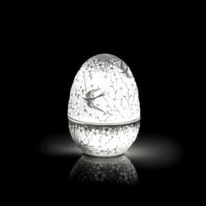 Шкатулка в форме яйца с подсветкой, 9 см - Фото